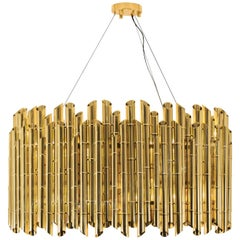 Brabbu Saki Chandelier in Polished Brass