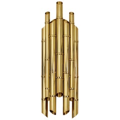 Brabbu Saki Sconce in Polished Brass