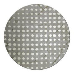 Sami Hand-Knotted Dyed Wool Rug II in Gray with White Dots