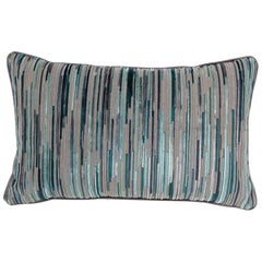 Brabbu Tapestry Pillow in Blue and Gray Twill