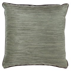 Thunder Pillow in Textured Green Satin
