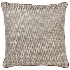 Brabbu Timberline Pillow in Beige Cotton-Linen Blend
