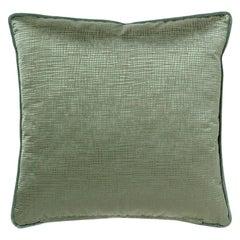 Venae Pillow in Green Satin