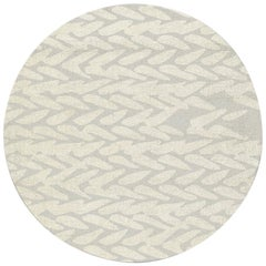 Brabbu Wari Circular Tufted Tencel Rug II in Sand