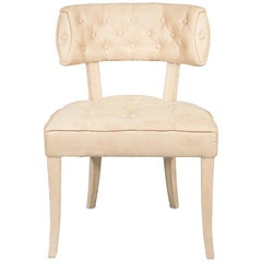 Zulu Dining Chair in Cotton Velvet With Fully Upholstered Legs