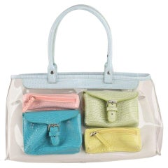 Braccialini Clear 2 in 1 Tote Shoulder Bag