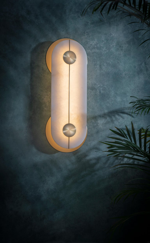 Modern Brace Wall Light Large by Bert Frank For Sale