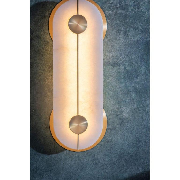 Alabaster Brace Wall Light Large by Bert Frank For Sale