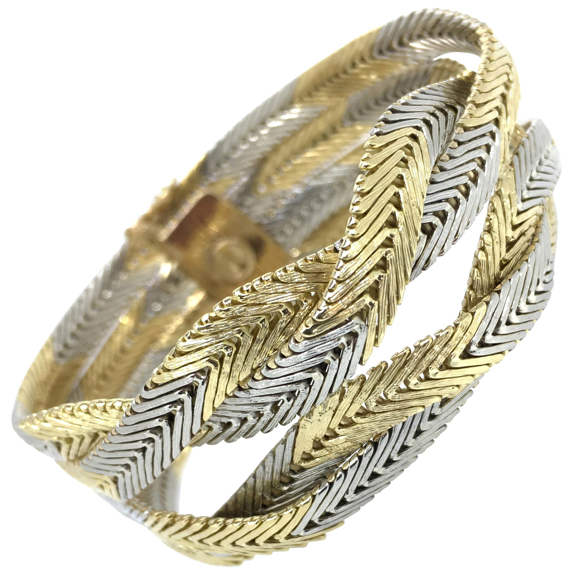 Bracelet, 18 Carat Gold, Italian Design, 1970