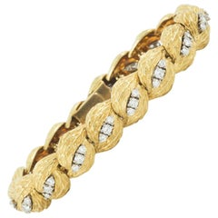 Georland of Paris Bracelet in 18 Karat Gold and Diamond, French circa 1965