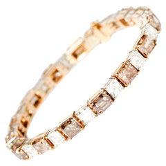 Brown 16,08ct & White Diamond Bracelet