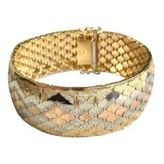 Bracelet 3 Gold 18 kt with Honeycomb Motif