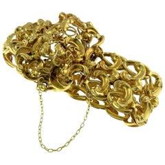 Bracelet, Antique, Yellow Gold, Napoleon III, 1850, Very Rare