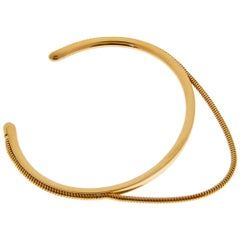 Bracelet Arm Cuff Snake Chain 18 Karat Silver Gold-Plated Minimal Greek Jewelry