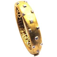 Bracelet Diamonds 18 Karat Yellow Gold, 1990s