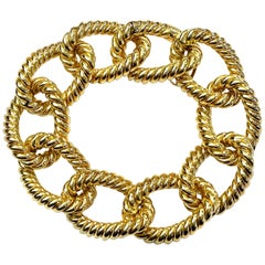 """Bracelet from the Collection """"Rope"""" 18 Karat Yellow Gold"""