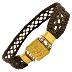 Bracelet Hair Jewelry 18k Gold with Clasp Helsinki Finland
