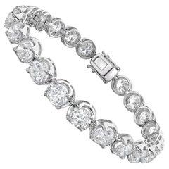 Bracelet in 18K White Gold with Diamond