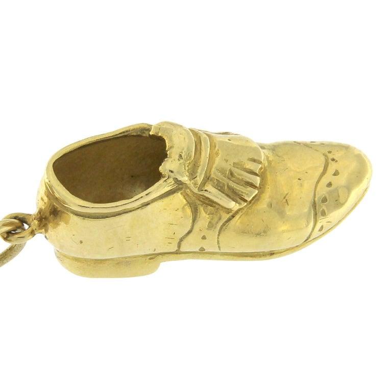 Bracelet in 18 Karat Yellow Gold golf charm For Sale 2