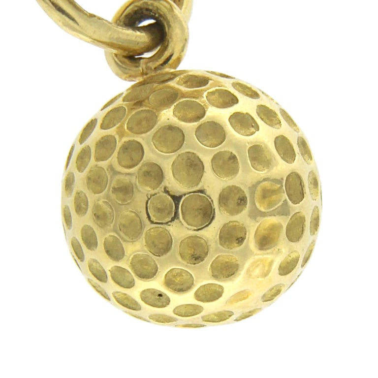 Bracelet in 18 Karat Yellow Gold golf charm For Sale 5
