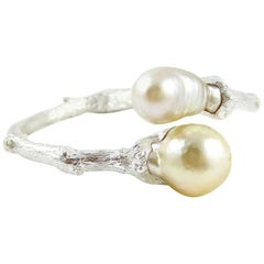 Bracelet in Sterling Silver with South Sea Pearls