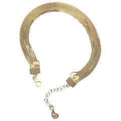 Bracelet Minimal Box Chain 18 Karat Gold-Plated Silver Mixed Greek Jewelry