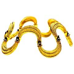 """Bracelet """"Waves"""" Handcrafted 18 Karat Gold"""