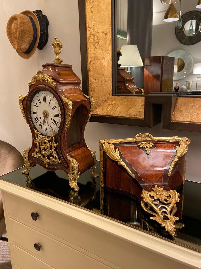 Gilt Bracket Clock, Italy, Mid-18th Century For Sale