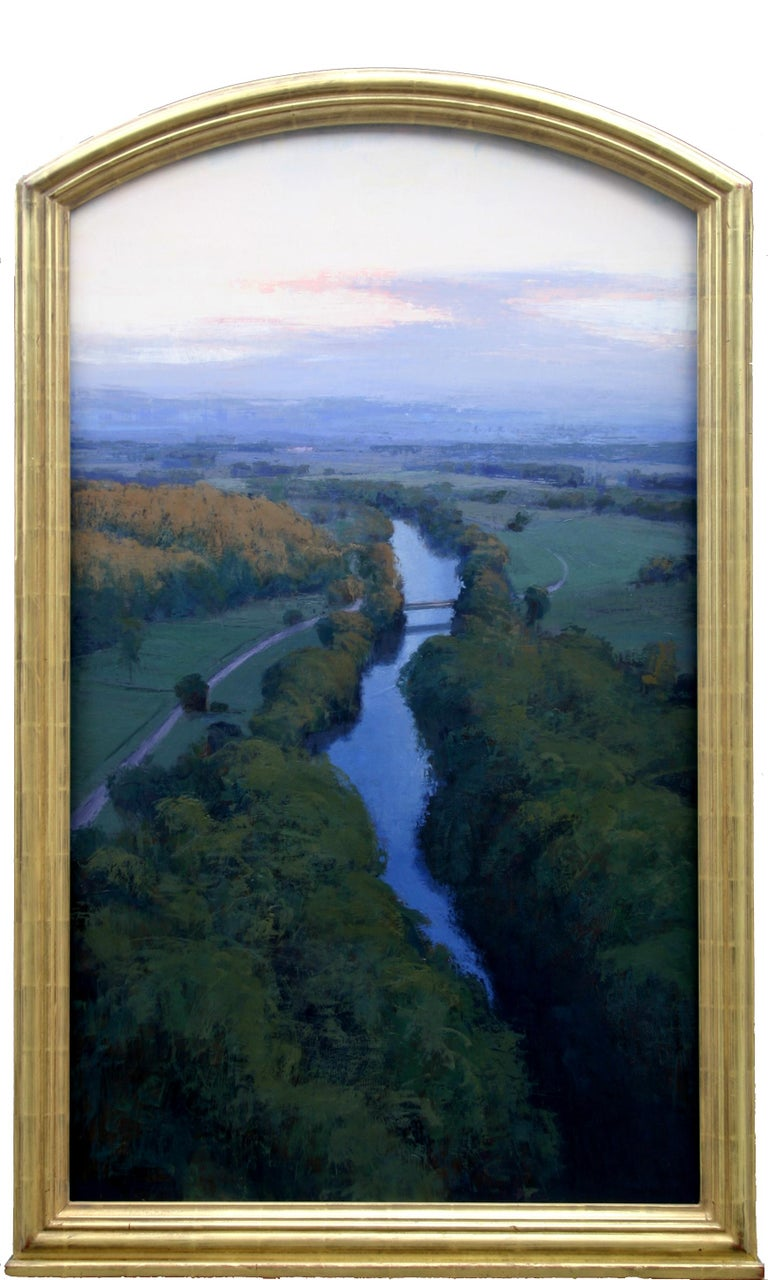 """Bridge at Dawn"" - Painting by Brad Aldridge"