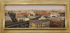 Brooklyn Horizon (L train at Myrtle, Grove, and Irving), framed in gold leaf