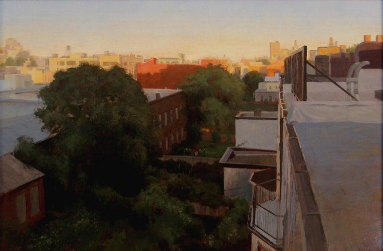 """City at Dawn"" - Painting by Brad Aldridge"