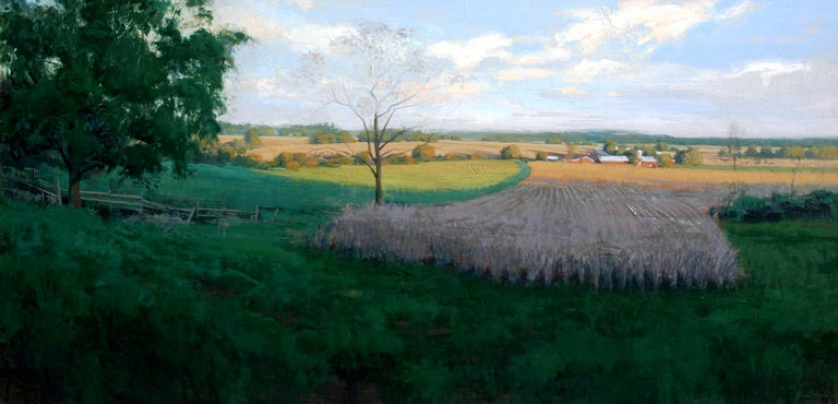 "Brad Aldridge Landscape Painting - ""Farm at Evening"""
