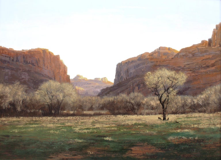 "Brad Aldridge Landscape Painting - ""November Evening"""