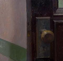 """Jessamine Street, Midnight,"" Oil painting"