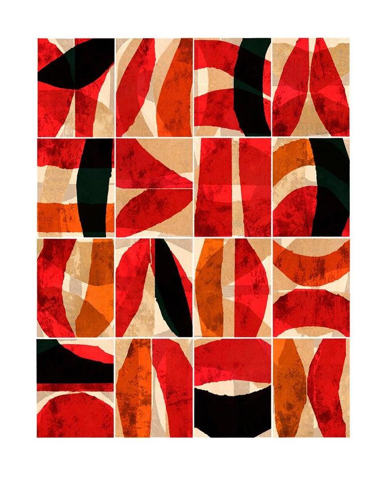 Paradigm Red - Abstract Art by Brad Ellis
