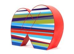 """Eveness,"" Sculpture, Artwork, Contemporary, Geometric, Colourful, Minimalistic"