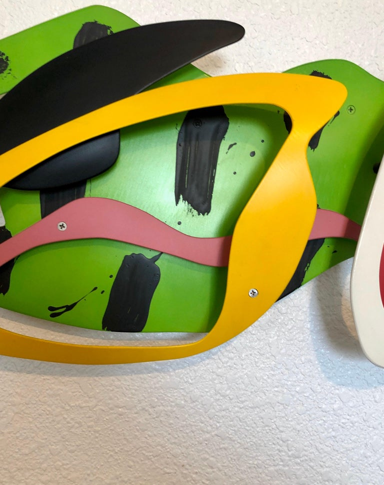 Brad Howe (born 1959) is an American sculptor from California. His work has been exhibited domestically and internationally. This is done in a bold and colorful Pop Art style reminiscent of the work of the Memphis Milano Group. Brad Howe was born in