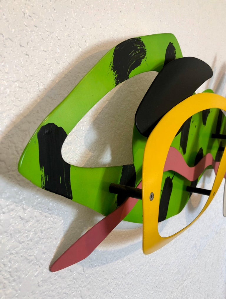 Seascape Abstract Wall Hanging Sculpture Brad Howe LA Artist Colorful Pop Art For Sale 3