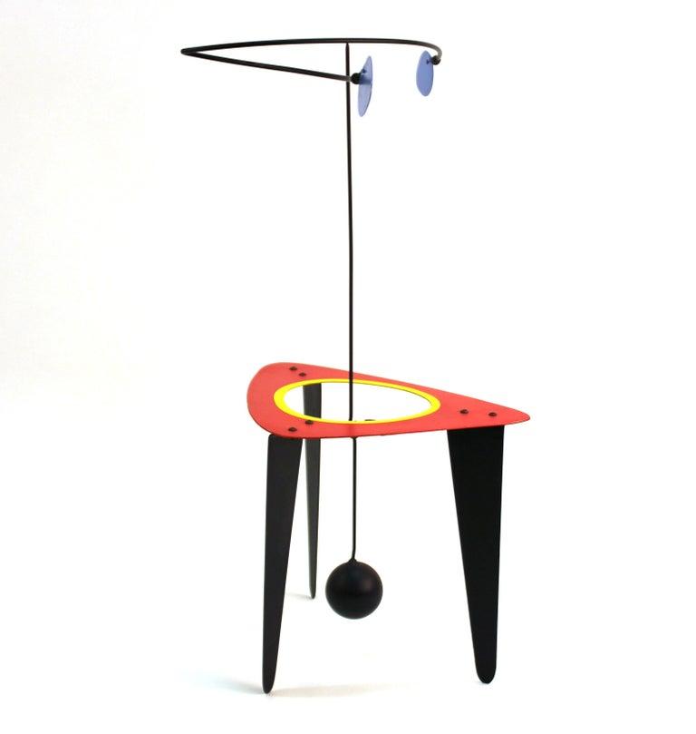 American Brad Howe Modern Kinetic Mobile / Stabile Sculpture For Sale