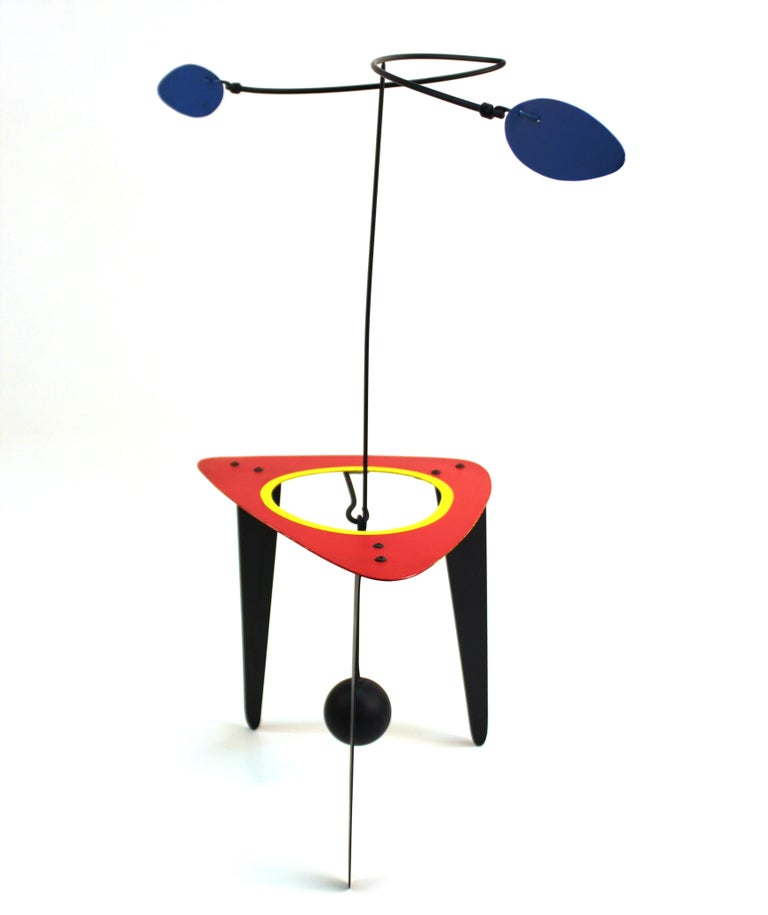 Painted Brad Howe Modern Kinetic Mobile / Stabile Sculpture For Sale