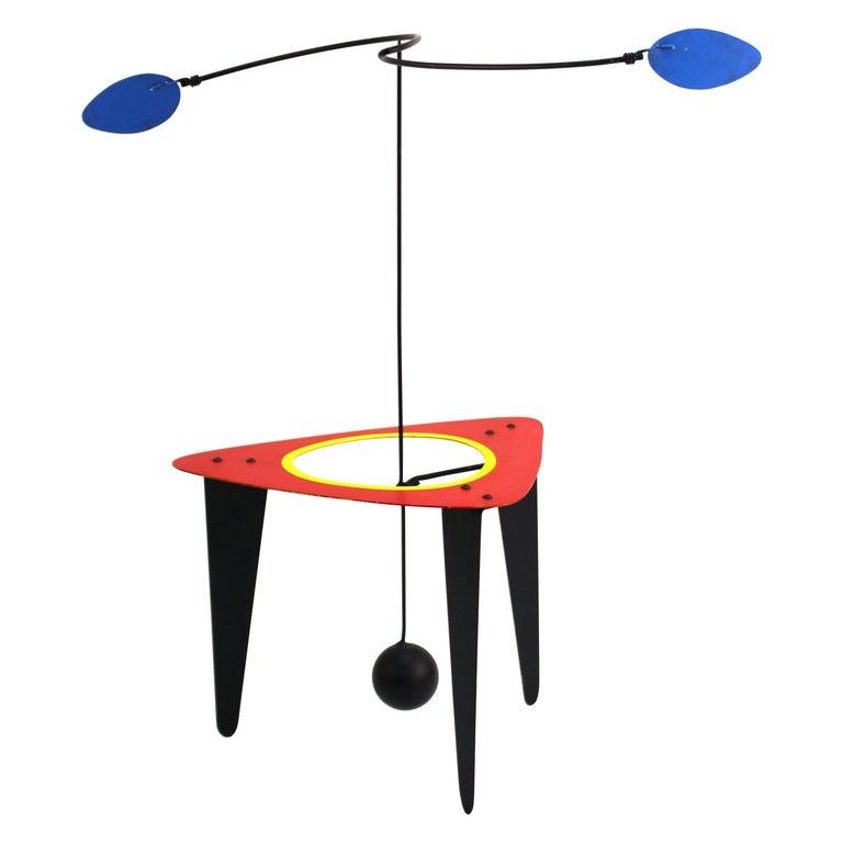 Brad Howe Modern Kinetic Mobile / Stabile Sculpture For Sale