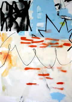 Out with a Bang - contemporary abstract graffiti colorful mixed media painting