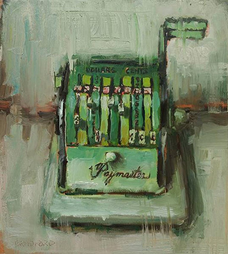 Green Paymaster - Painting by Bradford J. Salamon