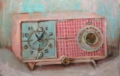 Pink GE Clock Radio