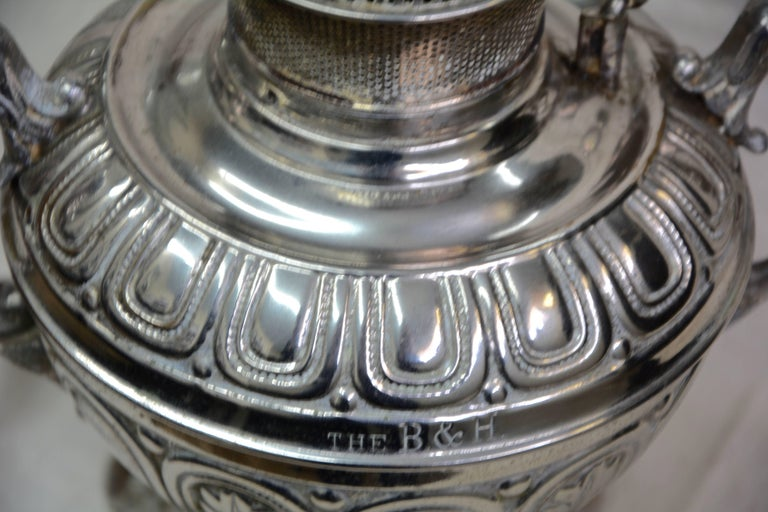 Brass Bradley and Hubbard Converted Rayo Oil Lamp, 1888 For Sale