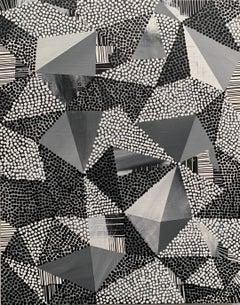 Scrambler Monochromatic, Contemporary, Abstract, Geometric, Acrylic, Painting