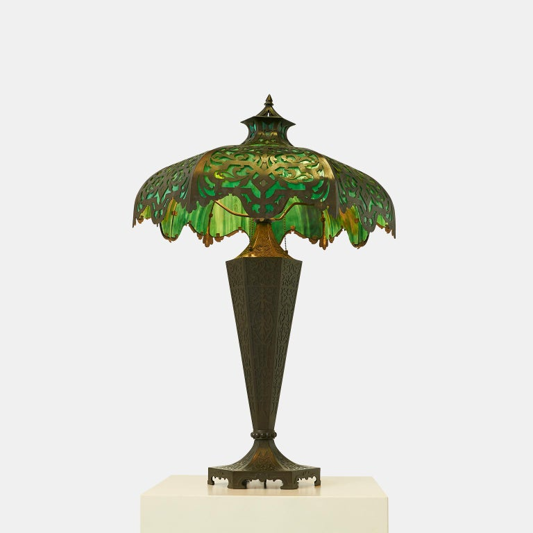 Bradley & Hubbard attributed table lamp