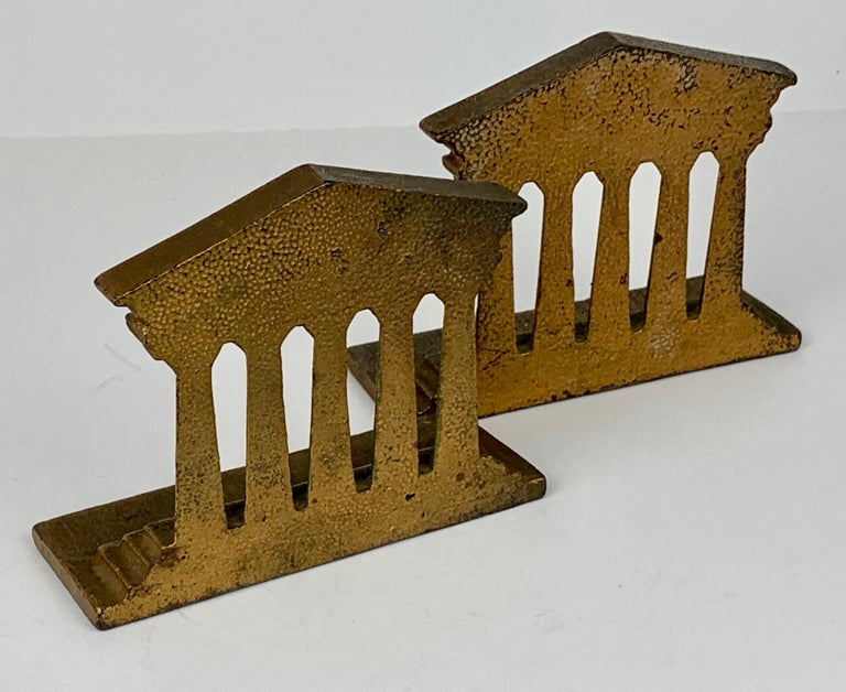 Neoclassical Revival Pair of Temple of Isis Bookends by Bradley & Hubbard_USA, 19th c. For Sale