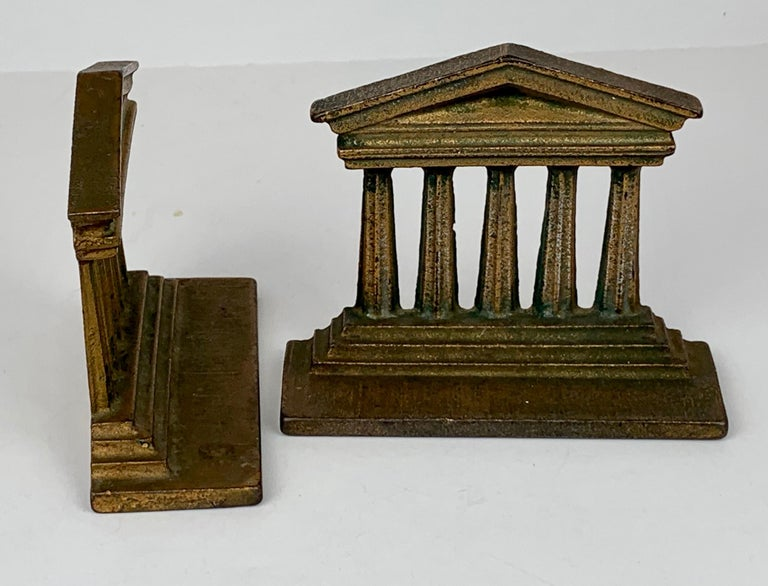 American Pair of Temple of Isis Bookends by Bradley & Hubbard_USA, 19th c. For Sale