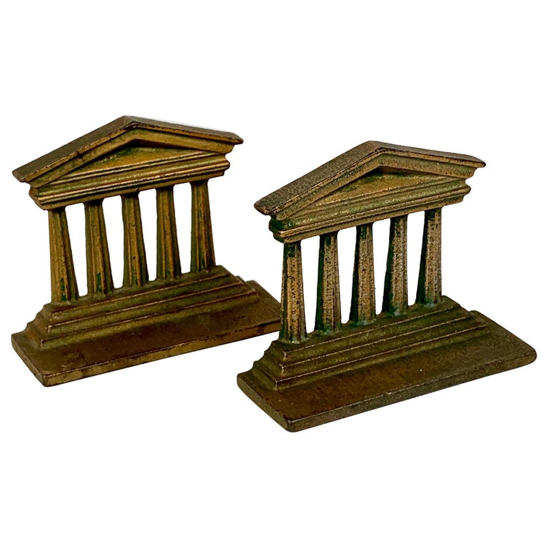 Pair of Temple of Isis Bookends by Bradley & Hubbard_USA, 19th c. For Sale